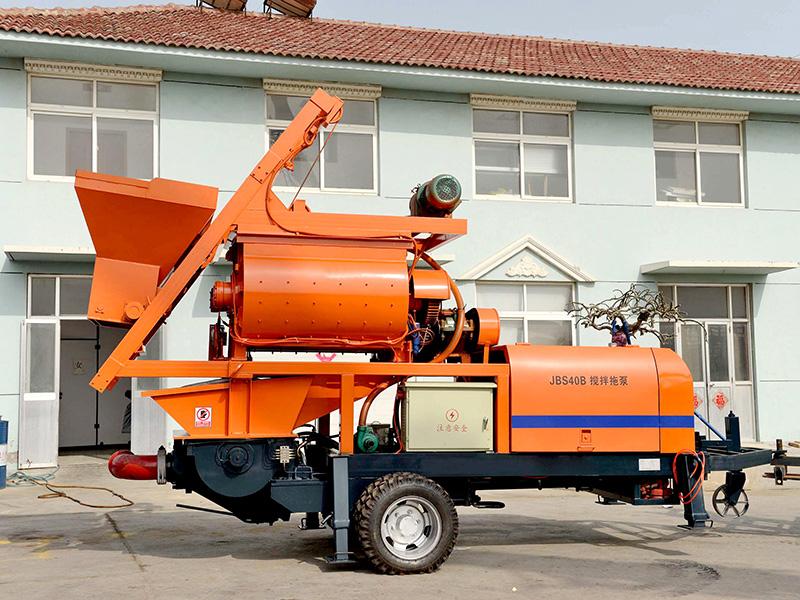 compulsory concrete mixer pump