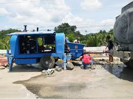 concrete pump working in Philippines