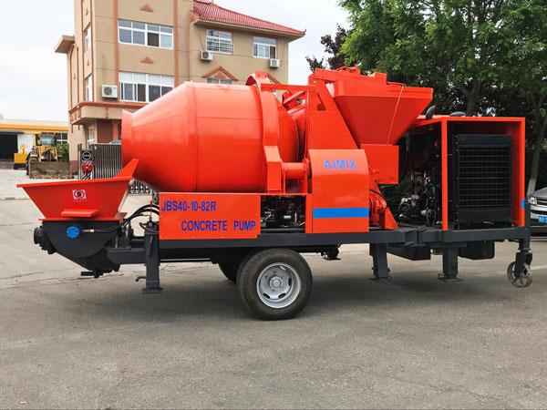 small diesel portable concrete mixer pump