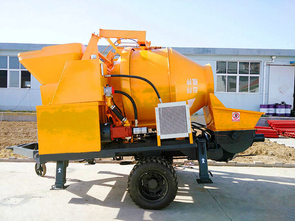 small portable concrete mixer and pump